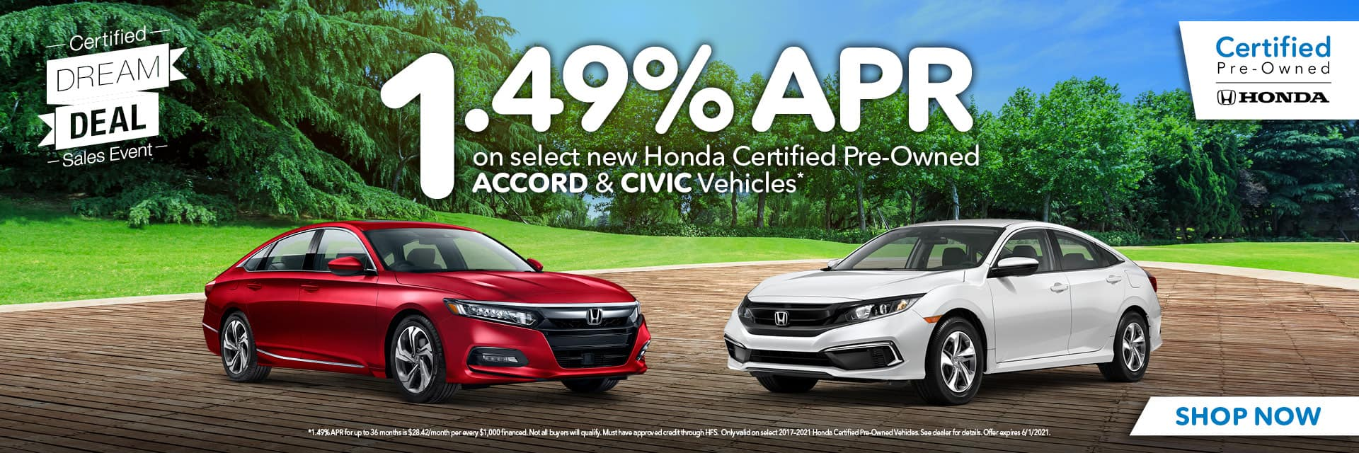 Certified Accord Civic APR Offer