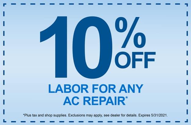 10% off AC Repair Labor