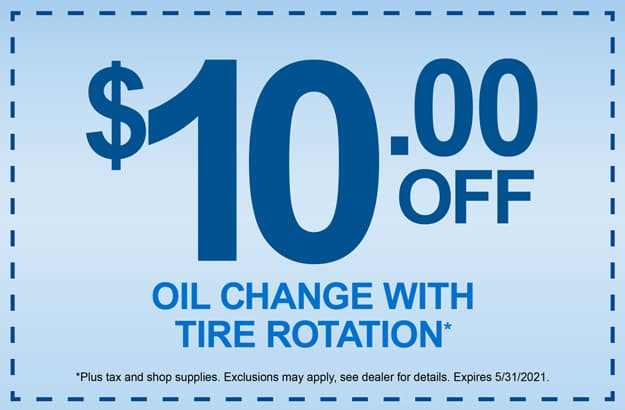 10 off Oil Change & Rotation