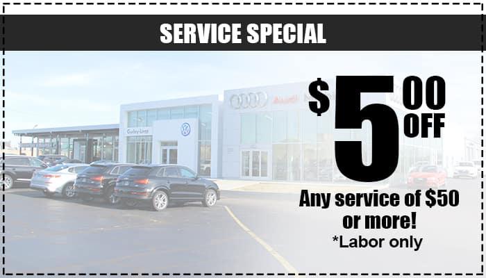 $5 Service Special