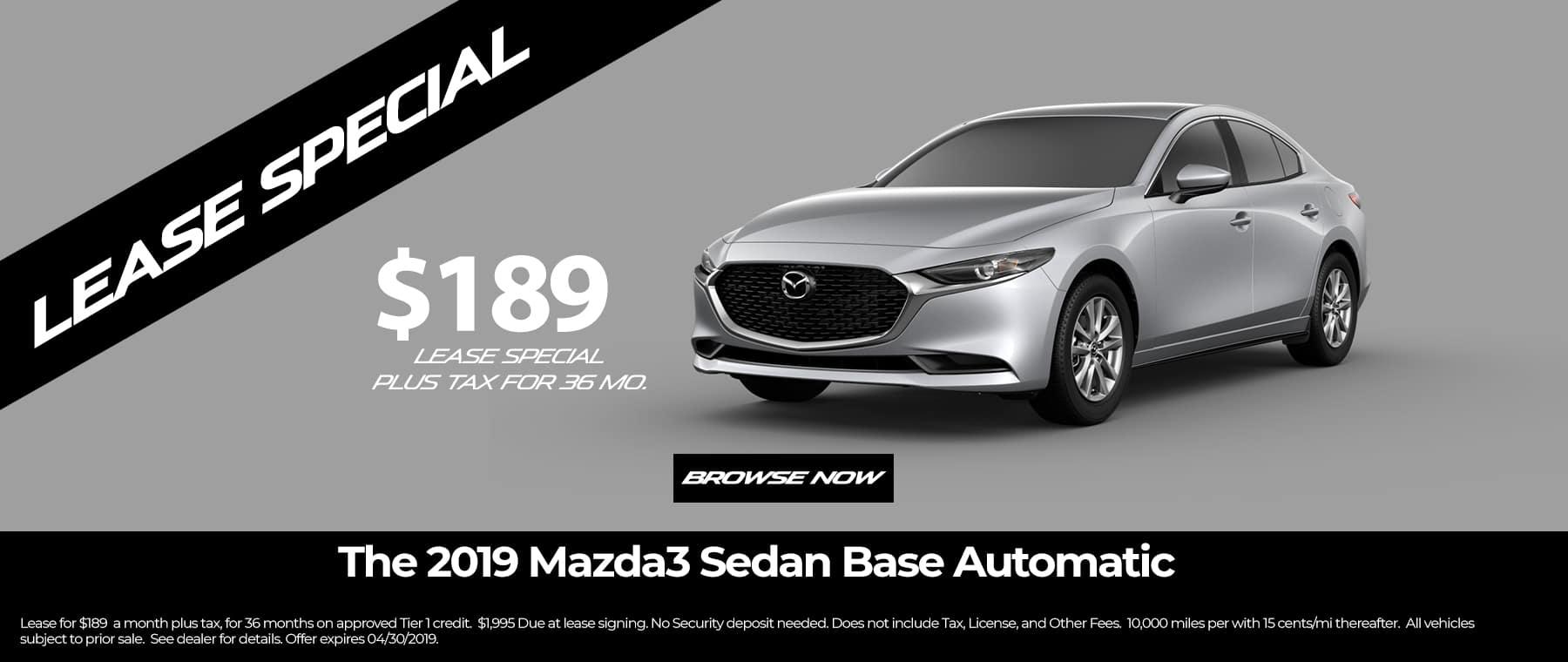 Mazda 3 Sedan Lease
