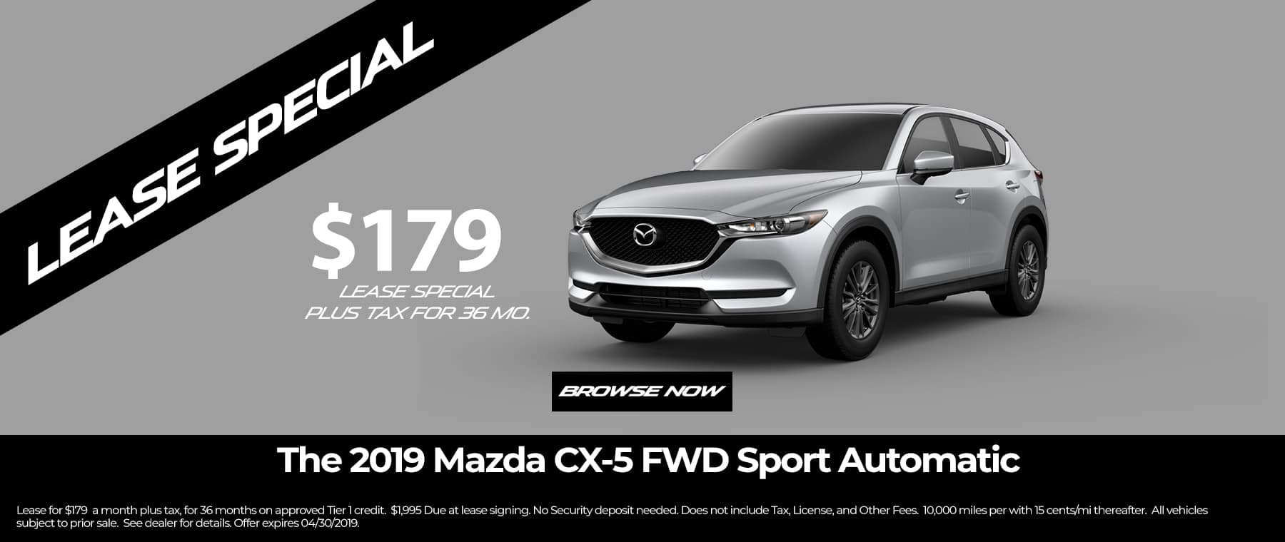 Mazda CX5 Lease
