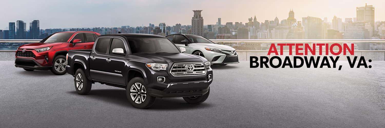 Toyota dealership in Broadway, VA