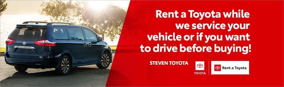 Toyota Rent a Car at Steven Toyota in Harrisonburg, VA