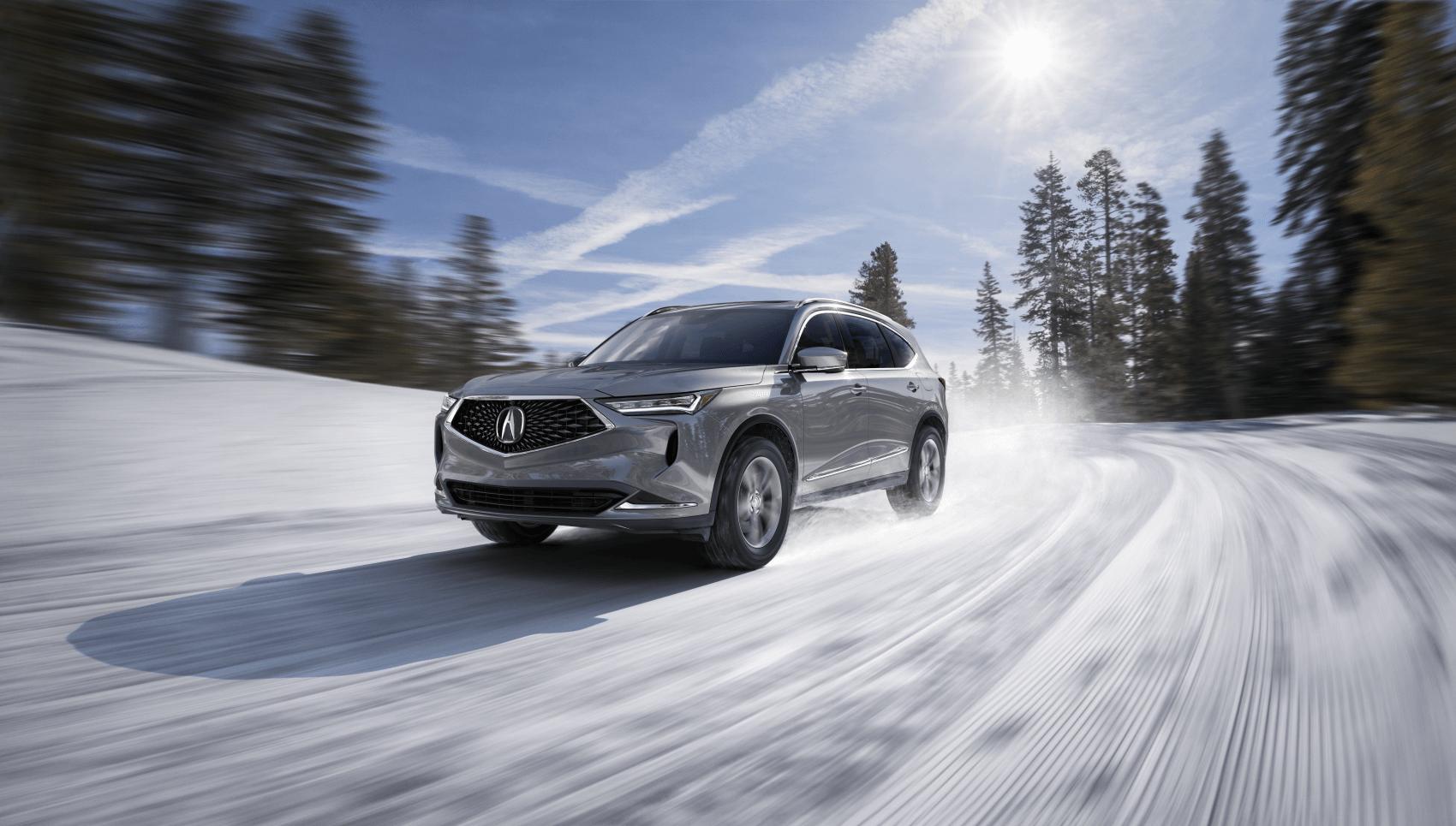 Acura MDX Base Lunar Silver Metallic Snow Winter Sussman Acura