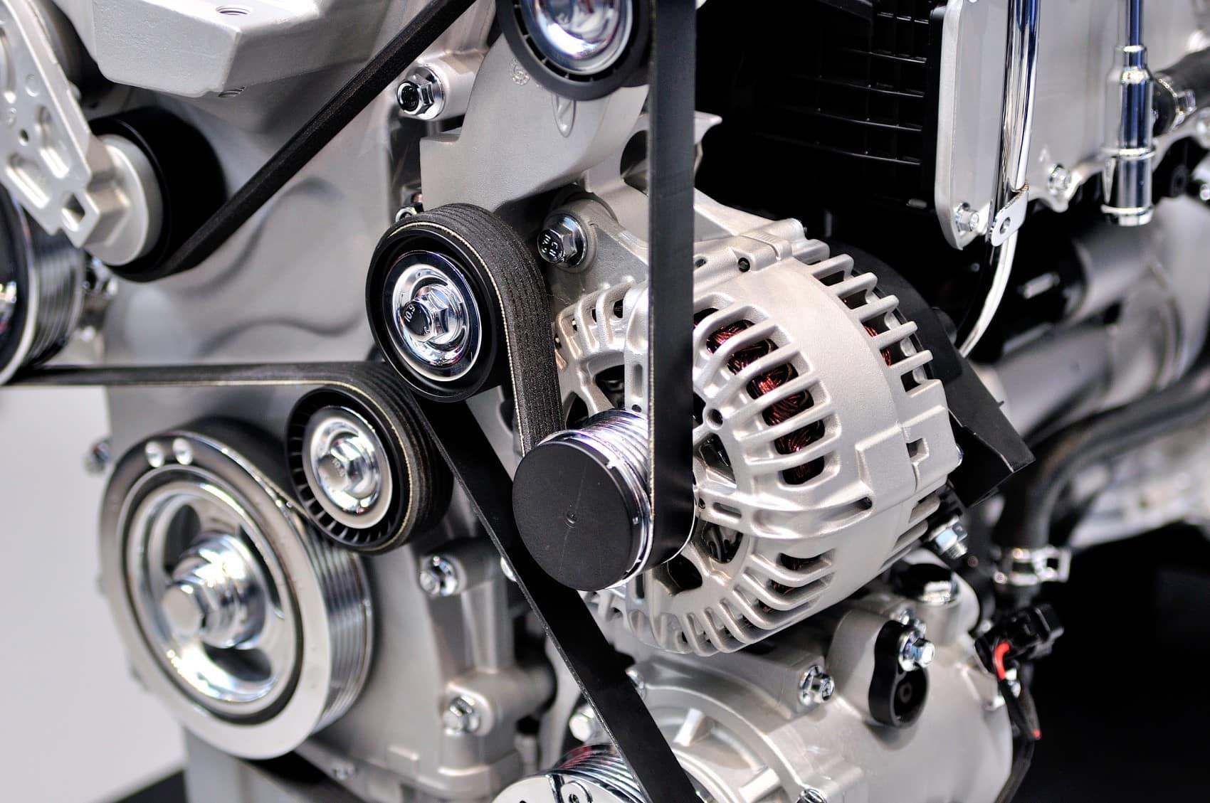 Drive belt inside engine