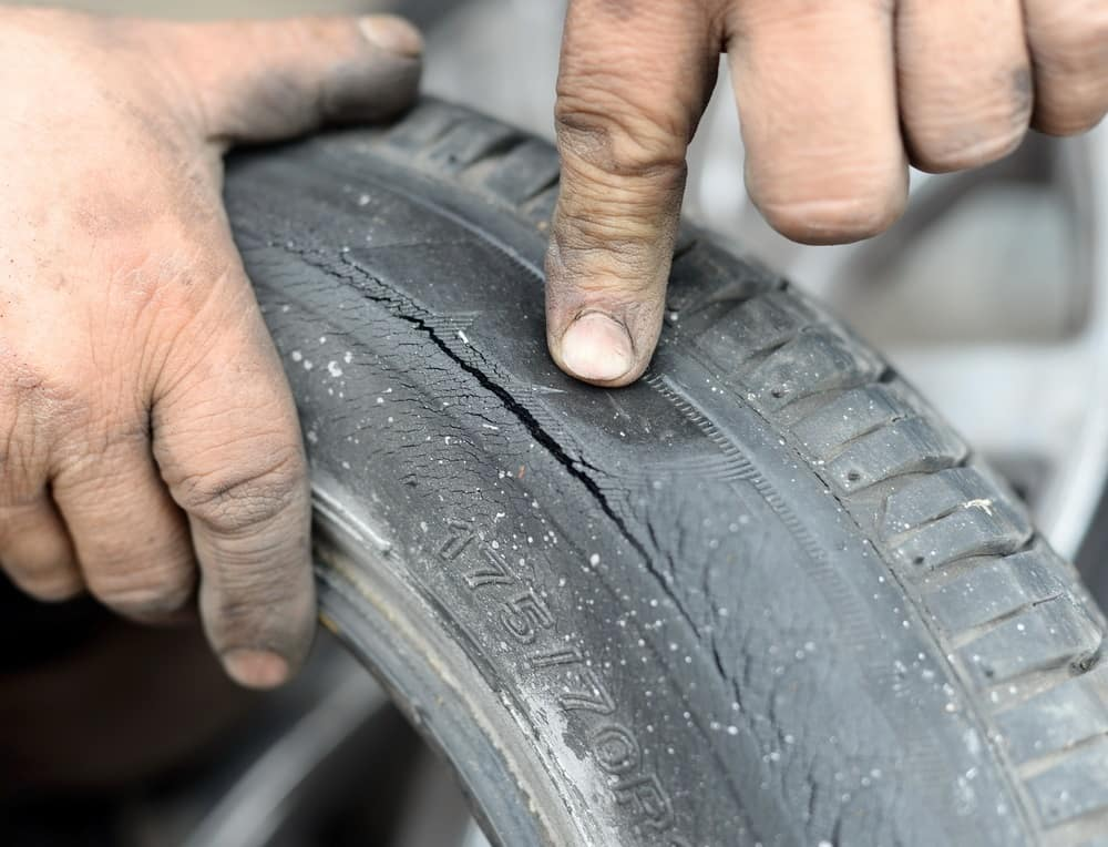 Cracked Tire