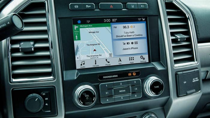 Sync3 Infotainment system inside the 2019 Ford F-350