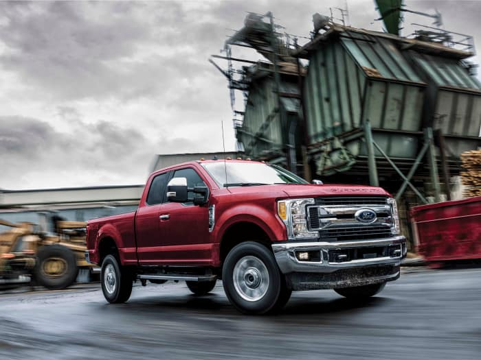 The bold exterior of the 2019 Ford F-350