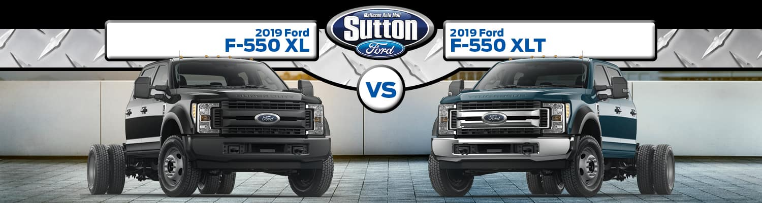 2019 Ford F-550 XL vs. XLT