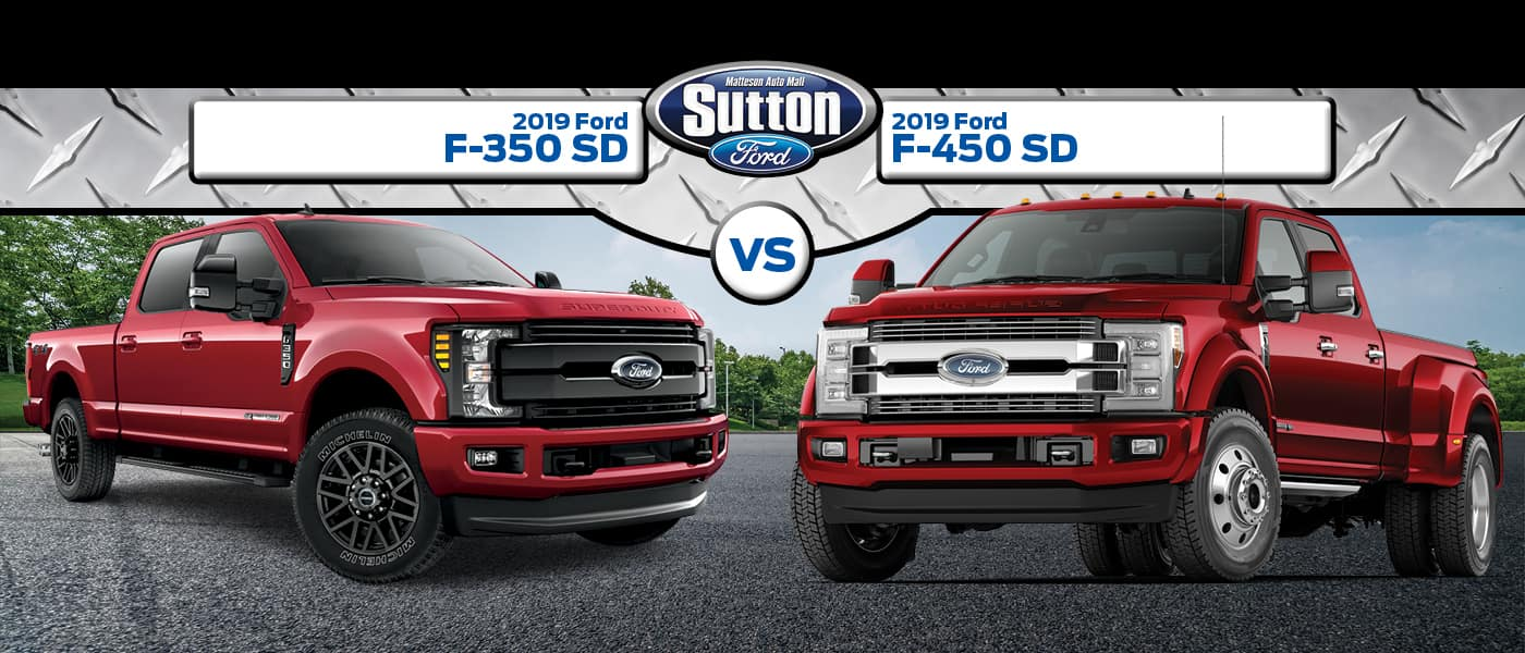 2019 Ford F-350SD vs. 2019 Ford F450SD