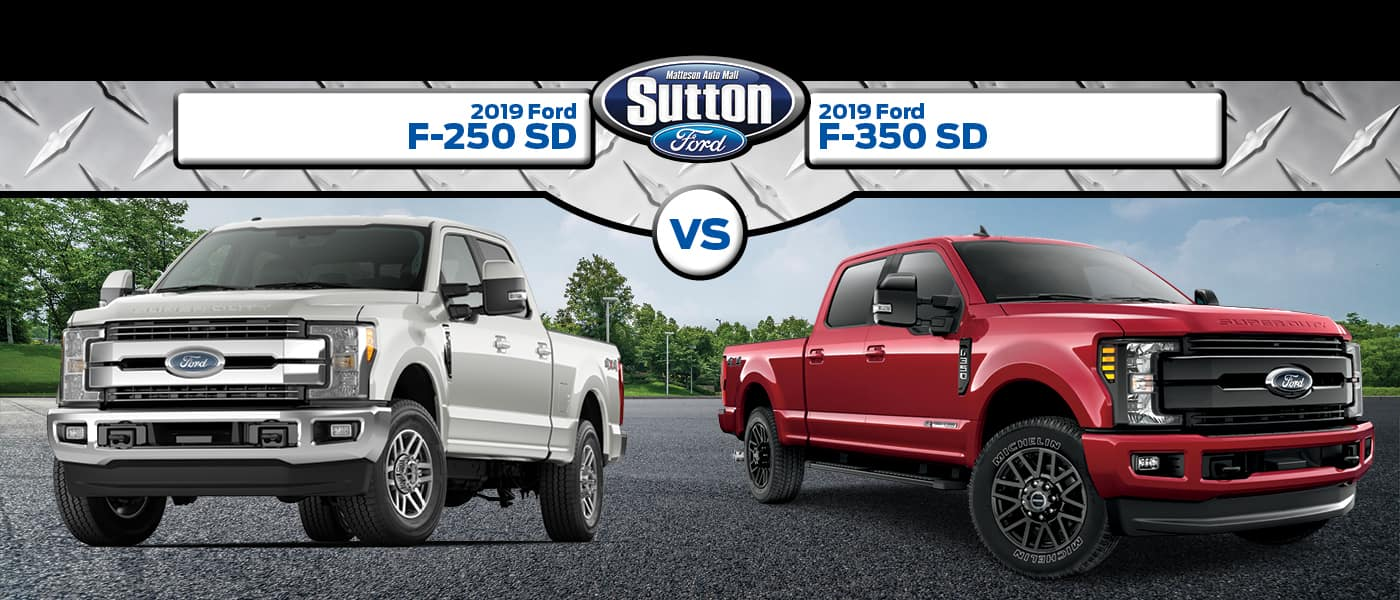 2019 Ford F-250SD vs. 2019 Ford F350SD