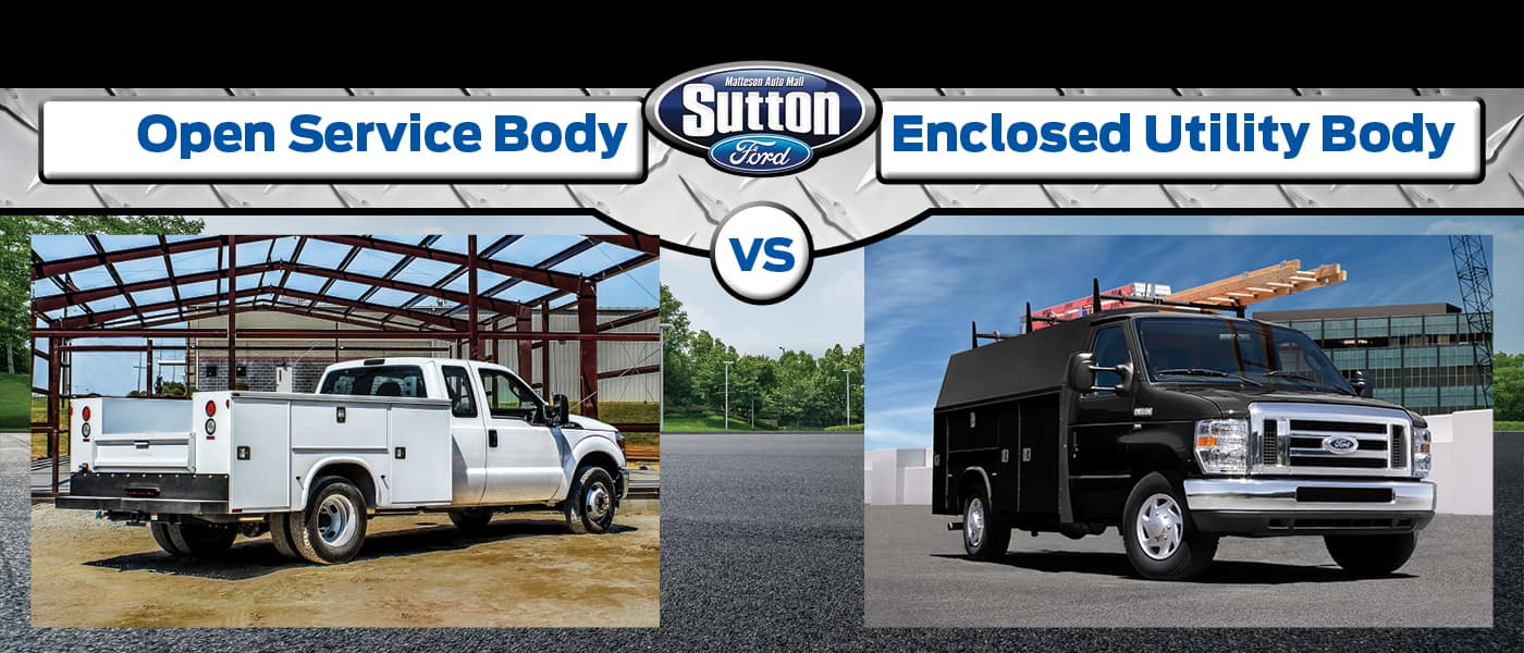 Open service Body vs. Enclosed Utility Body