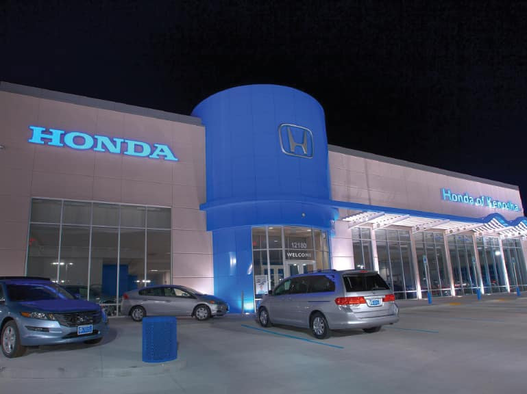 honda of kenosha dealership at night