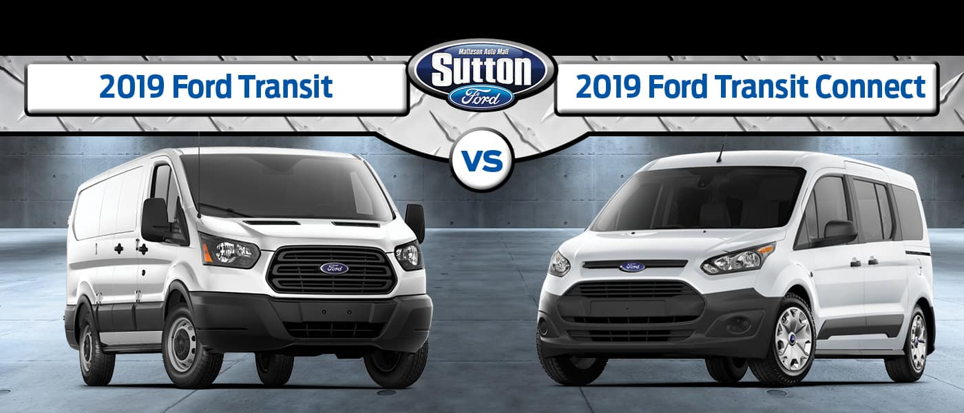 2019 Ford Transit vs 2019 Ford Transit Connect