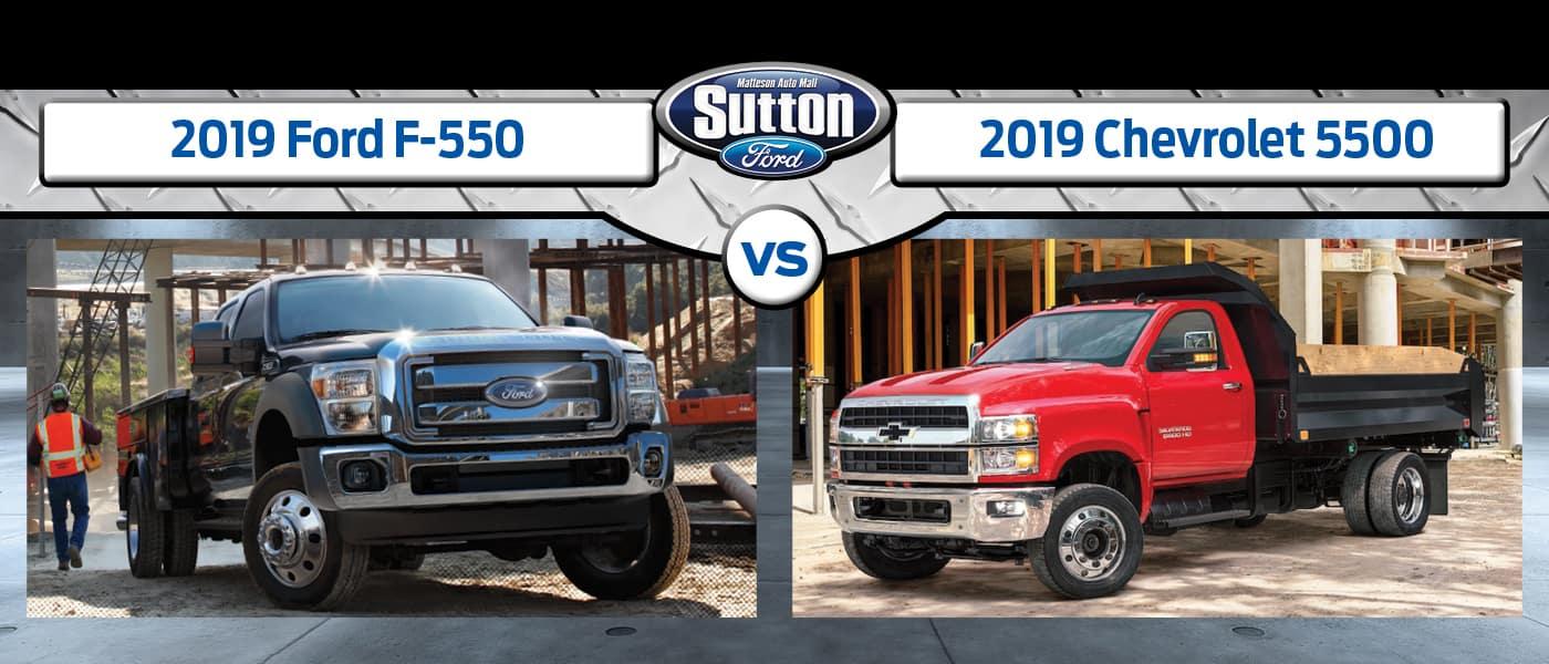 2019 Ford F-550 vs. 2019 Chevrolet 5500