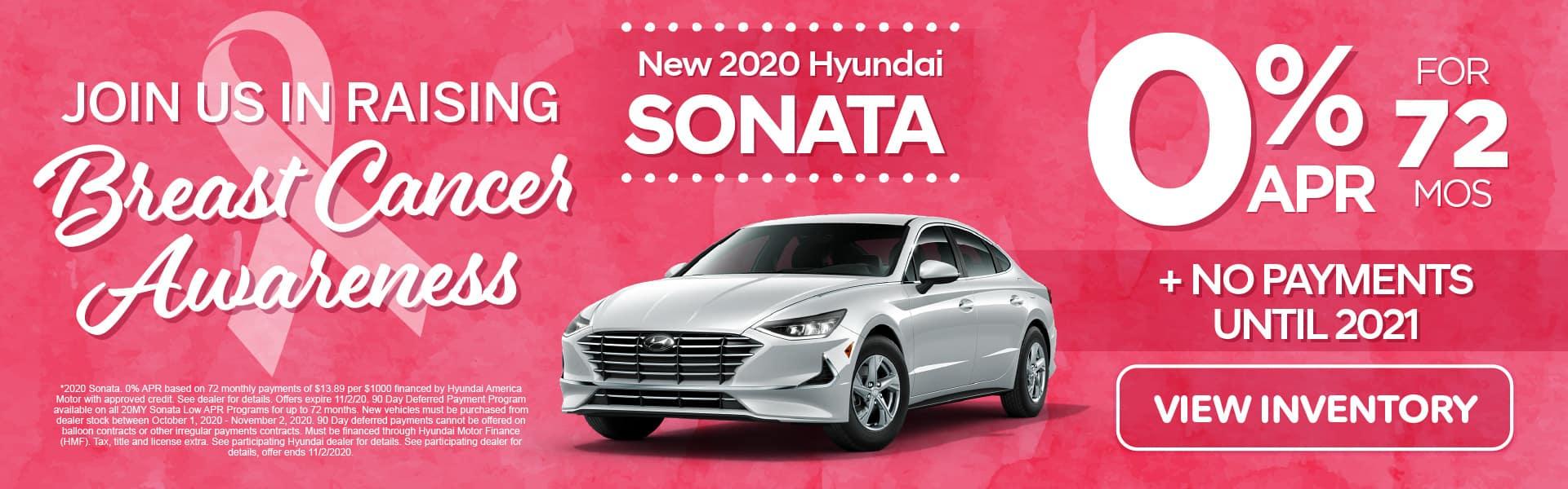 2020 Sonata 0% APR for 72 months