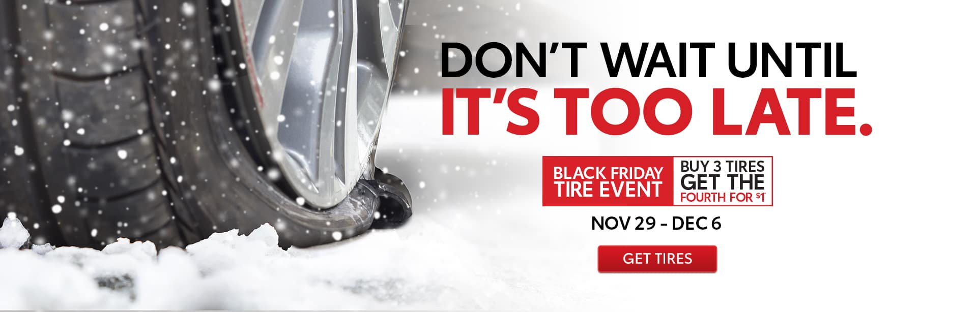 Toyota Black Friday Tire Sale