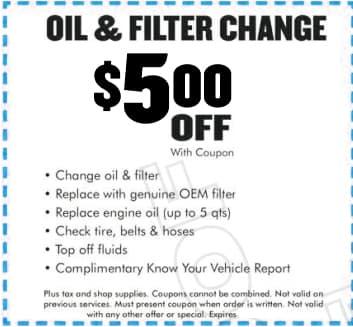 Oil Filter Special