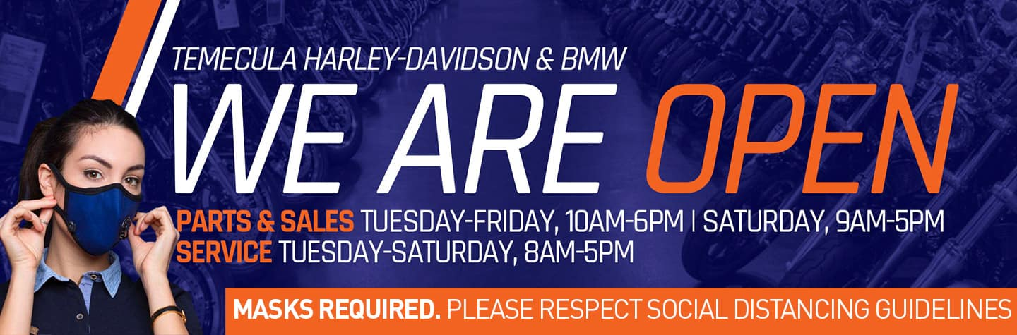 Temecula Harley-Davidson & BMW are open now