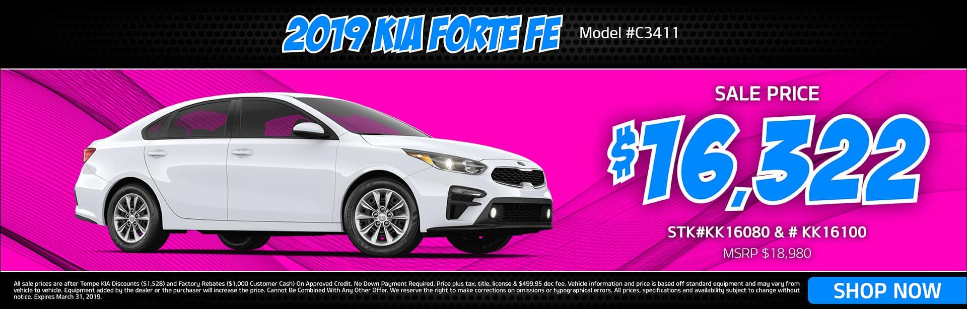 2019 KIA Forte FE Special