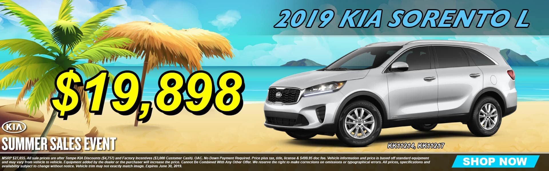 2019 Kia Sorento L Summer Sales Event