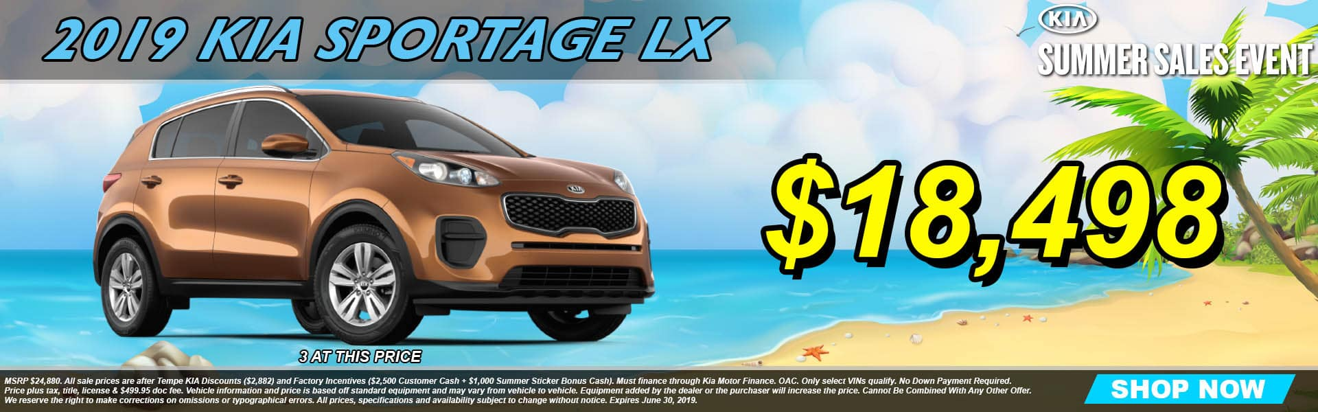 2019 Kia Sportage Slide Summer Sales Event
