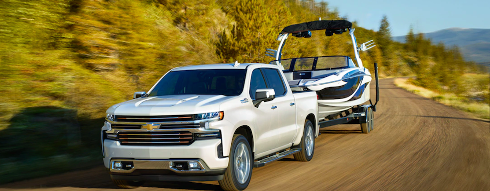 2019 Chevy Silverado Towing a Boat