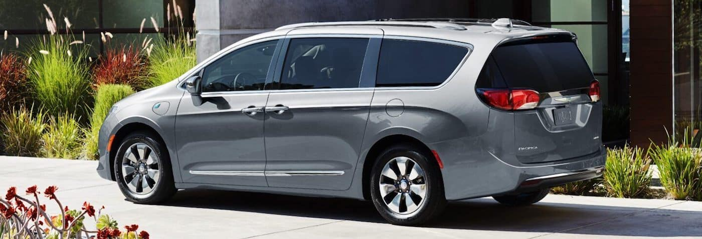 A 2019 Chrysler Pacifica parked in a driveway