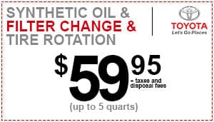 Toyota Oil Change Coupon >> Auto Service Specials Toyota Of Merrillville Near Schererville