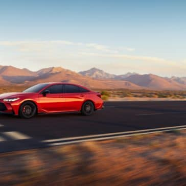 Toyota_Avalon_TRD_Red_Driving