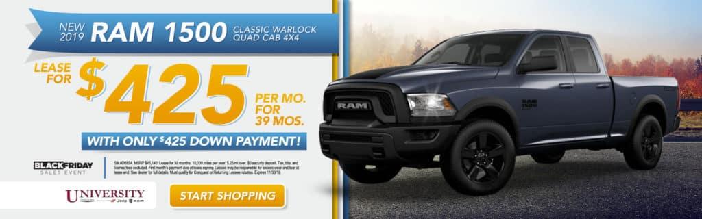 NEW 2019 RAM 1500 CLASSIC WARLOCK QUAD CAB® 4X4 6'4