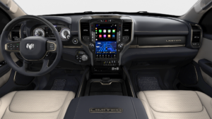2019 RAM 1500 LIMITED CREW CAB BOX interior in Indigo Frost