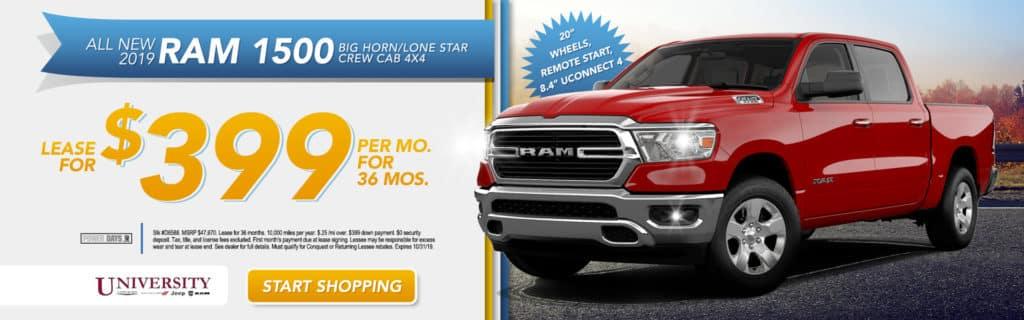 NEW 2019 RAM 1500 BIG HORN / LONE STAR CREW CAB 4X4