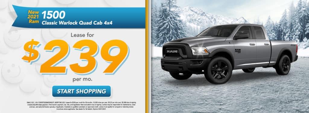 NEW 2021 RAM 1500 CLASSIC WARLOCK QUAD CAB® 4X4