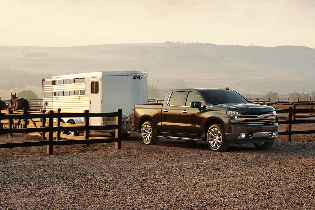 2020 Chevrolet Silverado 1500 towing at farm
