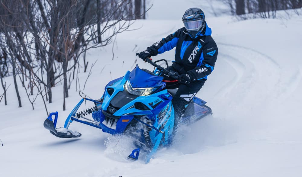 snowmobile loan and customer out riding