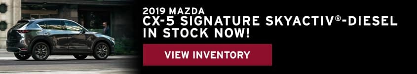 The CX-5 Diesel is in stock at Young Mazda
