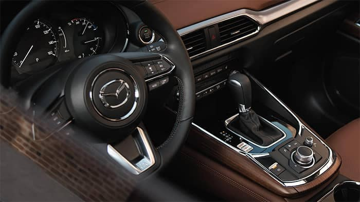 2019 Mazda CX-9 Interior Front Dashboard and Sterring Wheel Features