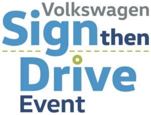 Volkswagen Sign Then Drive Event at Young Volkswagen