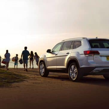 2019 Volkswagen Atlas Parked at the Beach