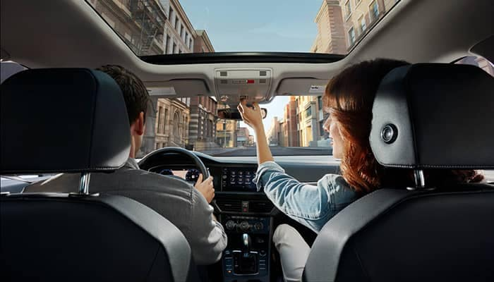 2019 Volkswagen Jetta Interior of Couple Driving