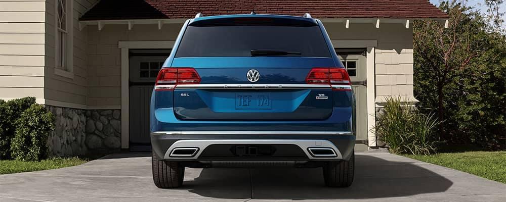 Volkswagen Atlas Rear End View Sitting in Driveway