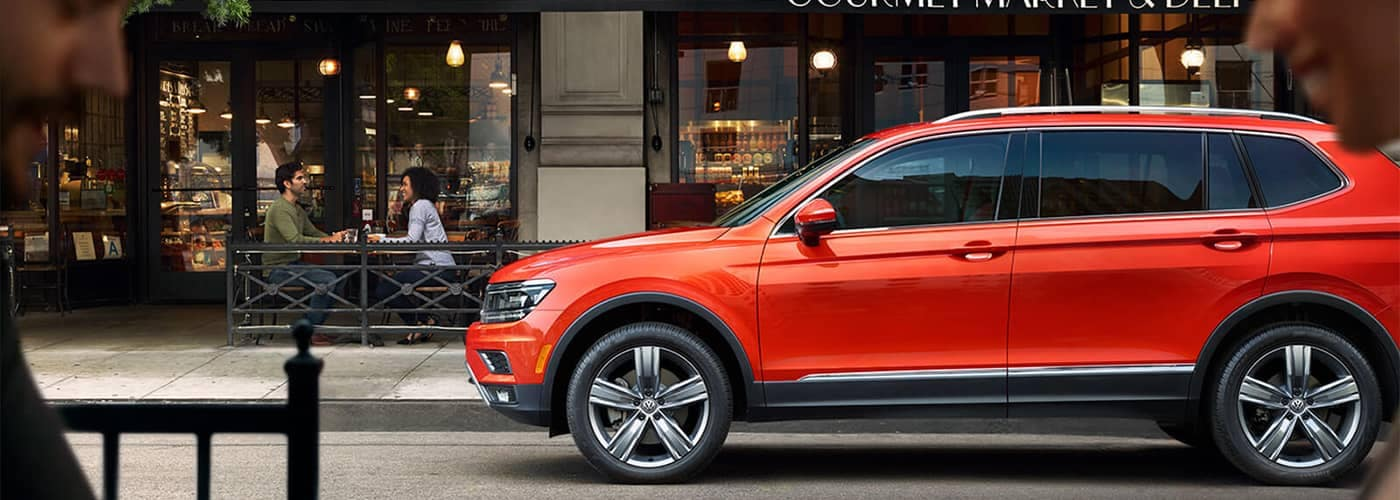 Volkswagen Tiguan parked on side of road