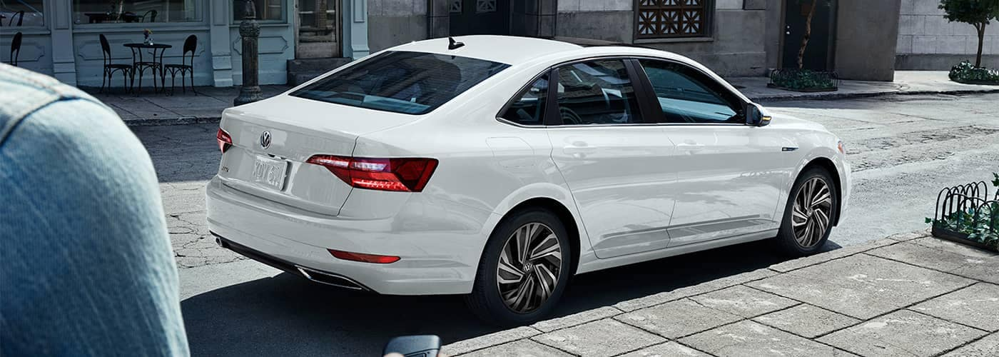 Volkswagen Jetta Parked on Side of Road