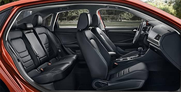 Red Volkswagen Jetta Interior Seating Side Profile