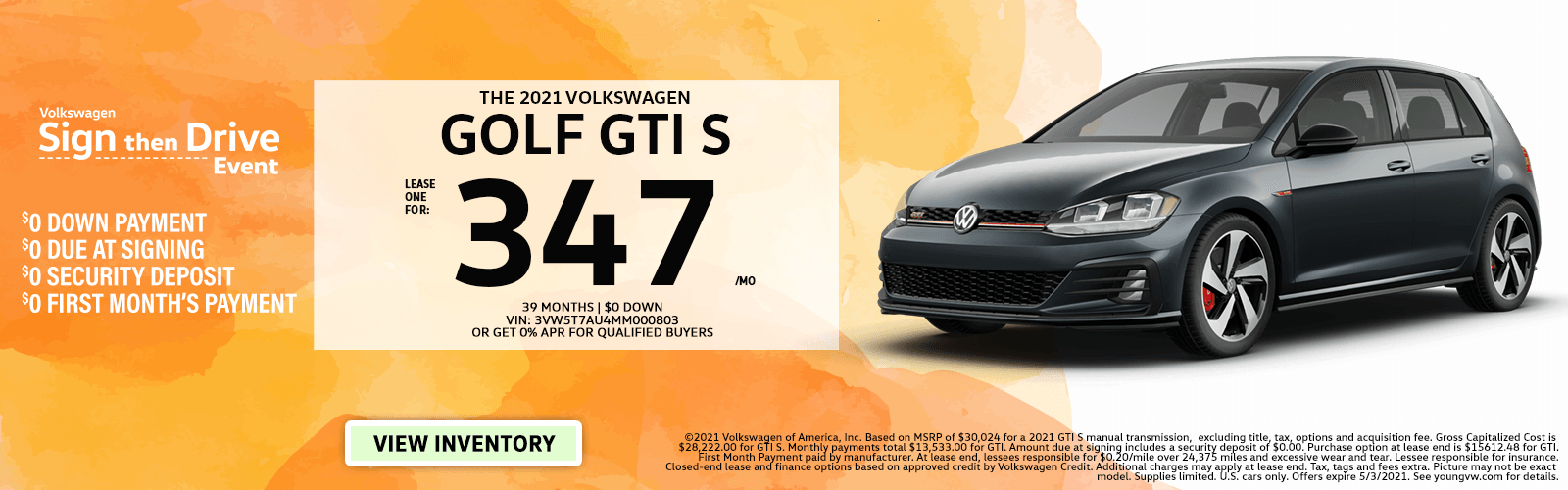 Golf GTI – Young April 2021